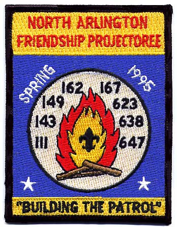 North Arlington Friendship Projectoree 1995 Patch